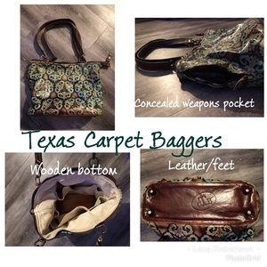 Handbags - Leather Purse—-Texas Carpet Baggers